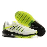 Nike Air Max 2015 White -Black-Volt Green