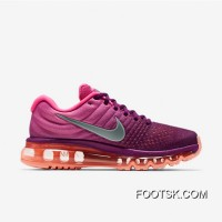 Nike Air Max 2017 Flyknit Women Red Purple Super Deals