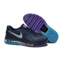 Hot Men Nike Air Max 2014 Dark Blue Purple Turquoise Magnet Silver