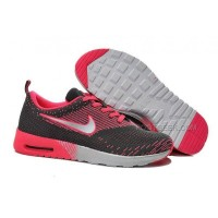 Nike Air Max 87 Thea Flyknit Womens Shoes Running Shoes Charcoal Pink