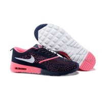 Nike Air Max 87 Thea Flyknit Womens Shoes Running Shoes Dark Blue Watermelon Red