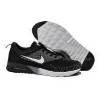 Nike Air Max 87 Thea Flyknit Mens Shoes Running Shoes Black White