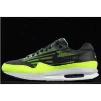 Nike Air Max 87 Lunar1 Mens Running Shoes Black Green White Sneakers