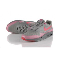 Nike Air Max 87 Hyperfuse Mens Shoes Silver Sun Red
