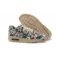 Nike WMNS Air Max 87 Running Shoes Camo Green/Beige-Brown