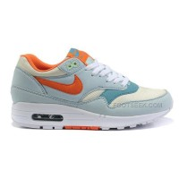 Nike Air Max 87 Womens Shoes Light Sky Blue Orange White