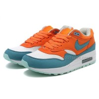 Nike Air Max 87 Womens Shoes Orange White Navy Blue