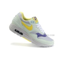 Nike Air Max 87 Womens Shoes Olive Yellow Blue