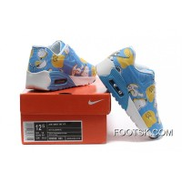 Nike AIR MAX 90 KID Hyperfuse White Blue Super Deals
