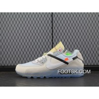 Off-White Nike Air Max 90 X Zoom Jogging Shoes Blue With White Bottom Aa7293-100 Men Discount
