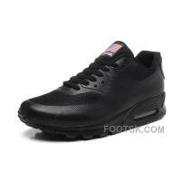 NIKE Air Max 90 Hyperfuse American Flag Black 36-46 Free Shipping