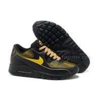 Air Max 90 Current VT LSR Womens Shoes Black Yellow
