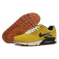 Nike Air Max 90 Womens Shoes Fur 2014 Yellow