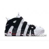 Nike Air More Uptempo White/Black-Red Top Deals