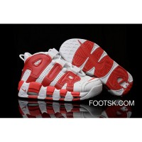 Nike Air More Uptempo White/Gym Red Lastest