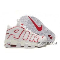 Lastest Nike Air More Uptempo White/Varsity Red