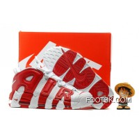 2016 Nike Air More Uptempo White/Varsity Red Lastest S6RiW