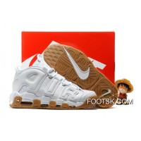 2016 Nike Air More Uptempo White/White-Gum Cheap To Buy 2j7dh