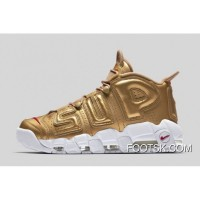 "Nike Air More Uptempo ""Supreme"" Metallic Gold/White Cheap To Buy XTMpTf7"
