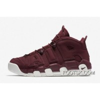 "New Nike Air More Uptempo ""Bordeaux"" Night Maroon-Sail Best XS65A43"