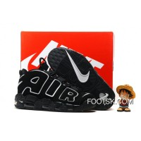 2016 Nike Air More Uptempo Black/White Discount 7f7kBw