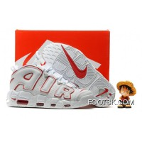 2016 Nike Air More Uptempo White/Varsity Red Super Deals 3YCtz