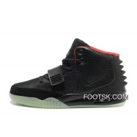 Nike Air Yeezy 2 Black/Solar Red Glow In The Dark Cheap To Buy