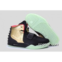 "3d117010b Glow In The Dark ""Imperial"" Nike Air Yeezy 2 Black Gold New Style AebnN"