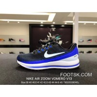 Best Nike Air Zoom Vomero V13 Lunarepic Series Men Sport Shoes Black Treasure Blue 922908-002 5 39 40 And 42 40 5 44 5 43 And 44