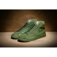 NIKE BLAZER High PRM VNTG 518171 Pig Leather Men Green Christmas Deals
