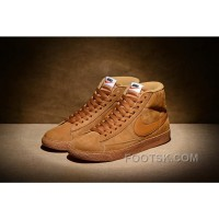 Lastest NIKE BLAZER High PRM VNTG 518171 Pig Leather Men Brown