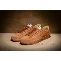 NIKE BLAZER LOW PRM VNTG 443903 Pig Leather Men Brown Cheap To Buy
