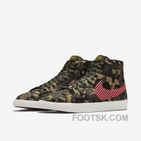 NIKE BLAZER MID JACQUARD 2017 Spring New 807382-201 Women Black Red Super Deals