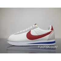 Nike Classic Cortez AW QS 847709-164 White/Varsity Red-Varsity Royal Super Deals