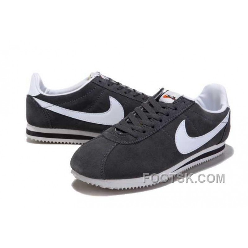 pretty nice 651bb 8f15d Christmas Deals Nike Cortez Anti-Fur Men Shoes Grey White ...