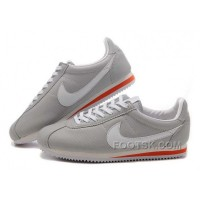 Nike Cortez Leather Men Shoes Gray White Red Lastest