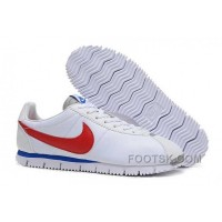 Authentic Nike Classic Cortez NM QS Mens White Blue Red