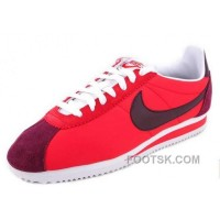 Authentic Nike Cortez Nylon Men Shoes Red Brown