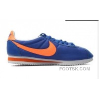 Cheap To Buy Nike Classic Cortez Nylon Mens Royal Blue Orange