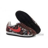 Cheap To Buy Nike Classic Cortez Nylon Mens Brown Red
