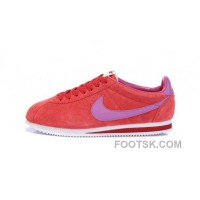 Authentic Nike Classic Cortez Nylon Mens Red Purple