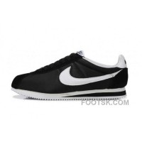 Cheap To Buy Nike Classic Cortez Nylon Mens Black White