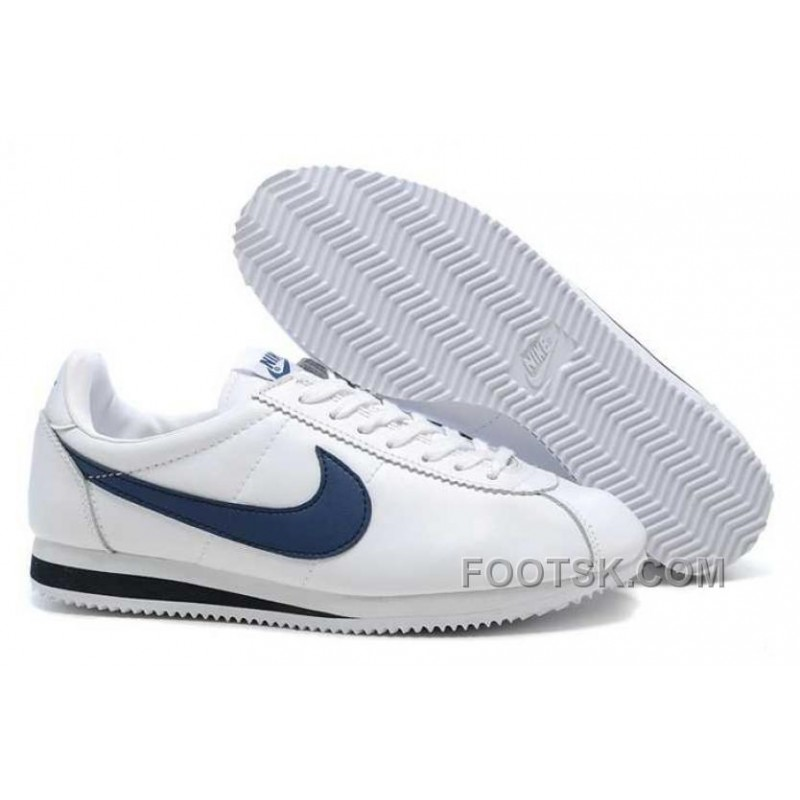 timeless design 1167b db3d4 Cheap To Buy Nike Classic Cortez Nylon Mens White Deep Blue