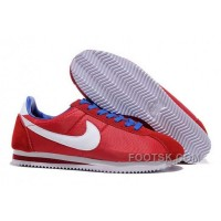 Authentic Nike Classic Cortez Nylon Mens Red White Blue