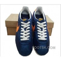 Authentic Nike Classic Cortez Nylon Mens Dark Blue Orange
