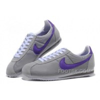 Authentic Nike Cortez Oxford Cloth Men Shoes Grey Purple