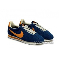 Cheap To Buy Nike Classic Cortez Yoth Mens Deep Blue Orange