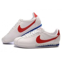 Nike Cortez Leather Women Shoes White Red Discount