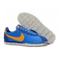 Nike Classic Cortez NM QS Womens Blue Yellow For Sale