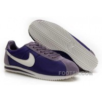 Nike Cortez Nylon Women Shoes Dark Purple Top Deals